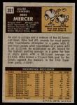 1971 Topps #201  Mike Mercer  Back Thumbnail