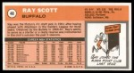 1970 Topps #48  Ray Scott   Back Thumbnail
