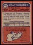 1973 Topps #252  Walt Sweeney  Back Thumbnail