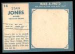 1961 Topps #14  Stan Jones  Back Thumbnail