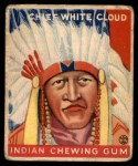 1933 Goudey Indian Gum #92   Chief White Cloud  Front Thumbnail