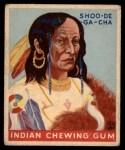 1933 Goudey Indian Gum #187  Shoo-De-Ga-Cha   Front Thumbnail