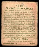 1933 Goudey Indian Gum #133   Flying in Circle  Back Thumbnail