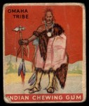 1933 Goudey Indian Gum #137   Omaha Tribe  Front Thumbnail