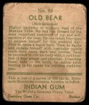 1933 Goudey Indian Gum #99  Old Bear   Back Thumbnail
