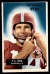 1955 Bowman #72  Y.A. Tittle  Front Thumbnail