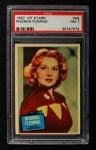 1957 Topps Hit Stars #46  Rhonda Fleming   Front Thumbnail
