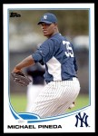 2013 Topps Update #89  Michael Pineda  Front Thumbnail