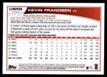 2013 Topps Update #58  Kevin Frandsen  Back Thumbnail
