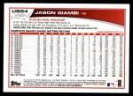 2013 Topps Update #54  Jason Giambi  Back Thumbnail