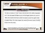 2013 Topps Update #52  Chris Davis  Back Thumbnail