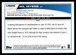2013 Topps Update #26  Wil Myers  Back Thumbnail