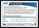 2013 Topps Update #25  Wade Davis  Back Thumbnail