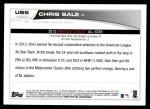 2013 Topps Update #5  Chris Sale  Back Thumbnail