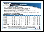 2013 Topps Update #196  Brayan Pena  Back Thumbnail