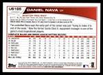 2013 Topps Update #185  Daniel Nava  Back Thumbnail