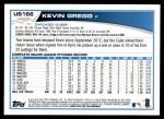 2013 Topps Update #166  Kevin Gregg  Back Thumbnail