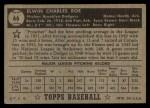 1952 Topps #66  Preacher Roe  Back Thumbnail