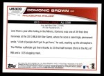 2013 Topps Update #309   -  Domonic Brown All-Star Back Thumbnail