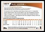 2013 Topps Update #275  Bud Norris  Back Thumbnail