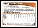 2013 Topps Update #260  Darren O'Day  Back Thumbnail