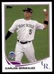 2013 Topps Update #227   -  Carlos Gonzalez All-Star Front Thumbnail