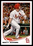 2013 Topps Update #213  Matt Adams  Front Thumbnail