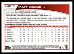 2013 Topps Update #213  Matt Adams  Back Thumbnail