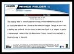 2013 Topps Update #205   -  Prince Fielder All-Star Back Thumbnail