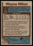 1977 Topps #166  Wayne Dillon  Back Thumbnail