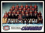 1977 Topps #80   Canadiens Team Checklist Front Thumbnail