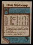 1977 Topps #172  Dan Maloney  Back Thumbnail