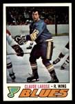 1977 Topps #167  Claude Larose  Front Thumbnail