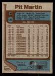 1977 Topps #135  Pit Martin  Back Thumbnail
