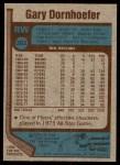 1977 Topps #202  Gary Dornhoefer  Back Thumbnail