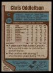 1977 Topps #209  Chris Oddleifson  Back Thumbnail