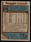 1977 Topps #185  Reggie Leach  Back Thumbnail