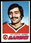 1977 Topps #63  Rick Hampton  Front Thumbnail
