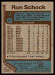 1977 Topps #51  Ron Schock  Back Thumbnail
