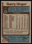 1977 Topps #35  Garry Unger  Back Thumbnail