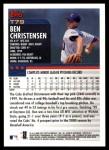 2000 Topps Traded #79 T Ben Christensen  Back Thumbnail