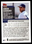 2000 Topps Traded #62 T Junior Guerrero  Back Thumbnail