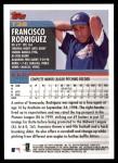 2000 Topps Traded #38 T Francisco Rodriguez  Back Thumbnail