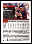 2000 Topps Traded #27 T John McDonald  Back Thumbnail
