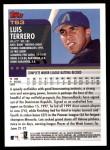 2000 Topps Traded #63 T Luis Terrero  Back Thumbnail