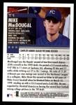 2000 Topps Traded #1 T Mike MacDougal  Back Thumbnail