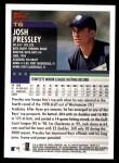 2000 Topps Traded #6 T Josh Pressley  Back Thumbnail
