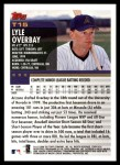 2000 Topps Traded #15 T Lyle Overbay  Back Thumbnail