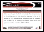 2012 Topps Update #5  Wade Miley  Back Thumbnail