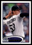 2012 Topps Update #20  Christian Friedrich  Front Thumbnail